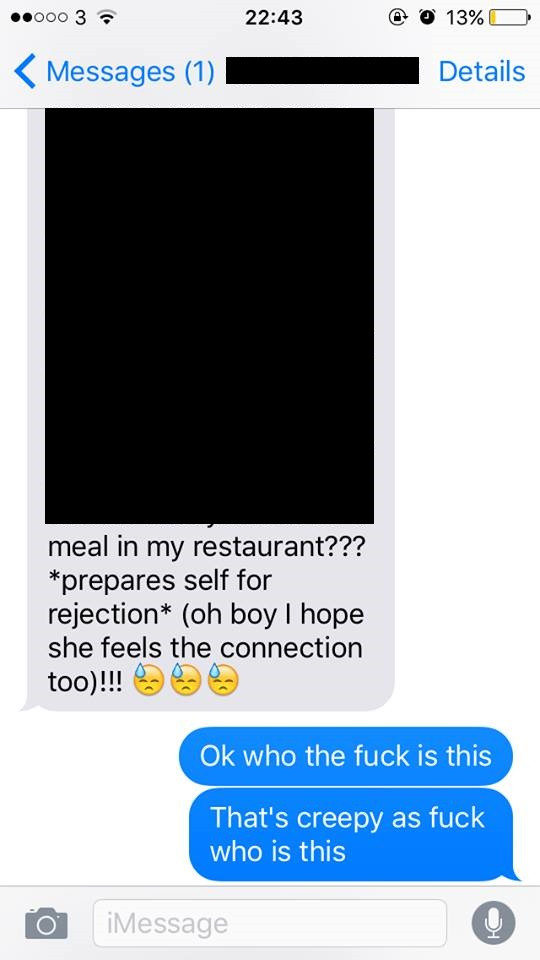 a restaurant worker sent the most embarrassing texts